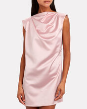 Structured Satin Shift Dress, PINK, hi-res