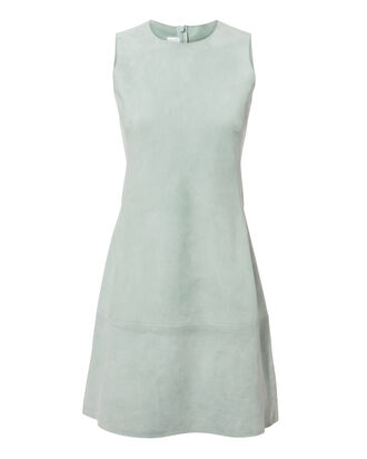 Mint Suede Mini Dress, GREEN-LT, hi-res
