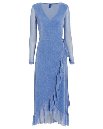 Nadia Wrap Dress, BLUE, hi-res