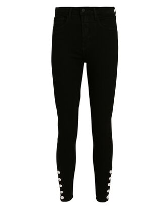 Lindsey High-Rise Skinny Jeans, BLACK, hi-res