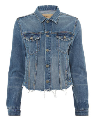 Cara Cropped Denim Jacket, BLUE DENIM, hi-res