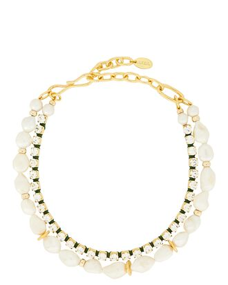 Lagoon Crystal & Pearl Necklace, IVORY, hi-res