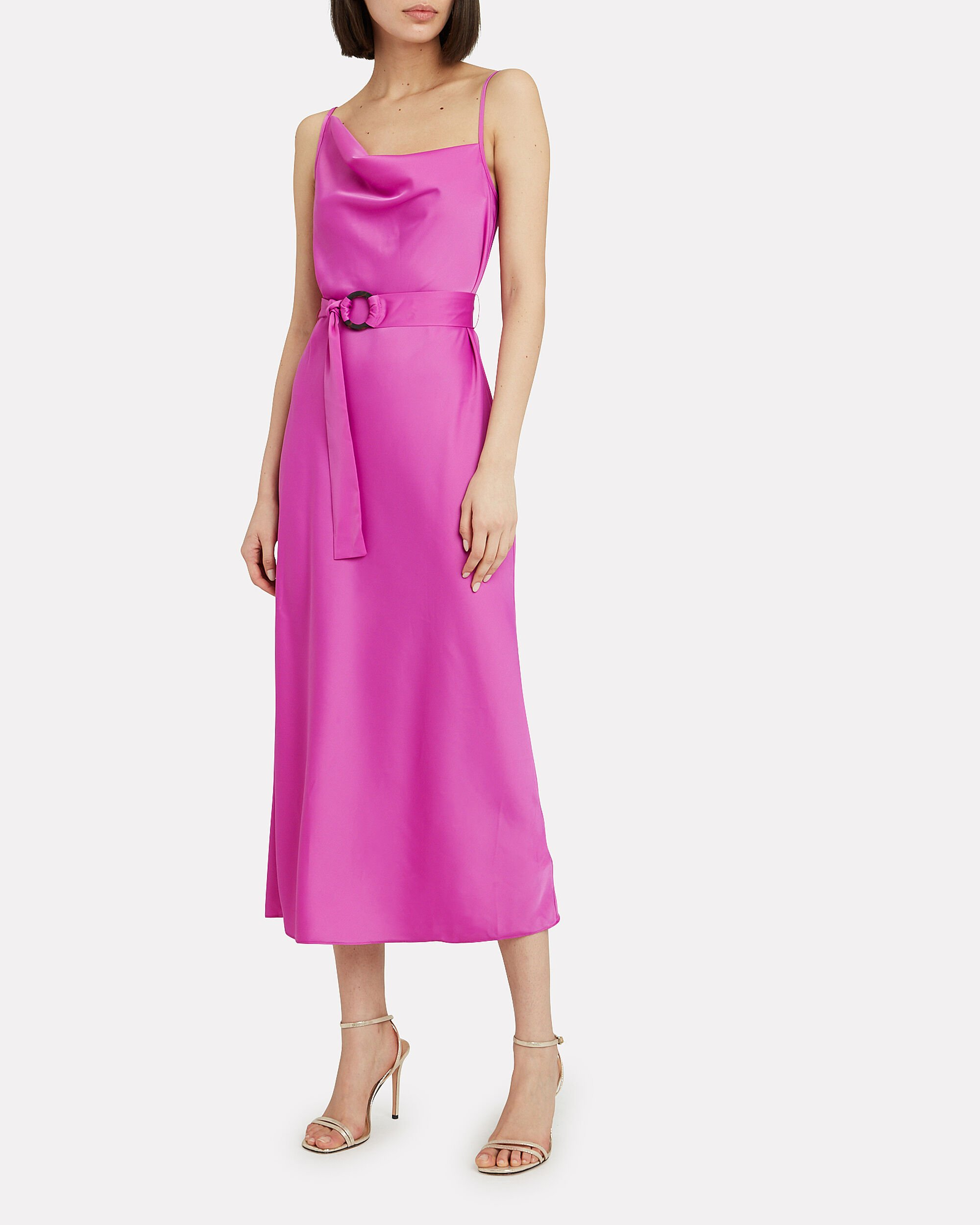 Tilly Midi Dress, FUSCHIA, hi-res