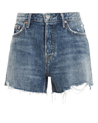 Helena Distressed Shorts, BLUE DENIM, hi-res