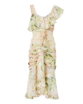 Oh Romeo Floral Midi Dress, BLUSH, hi-res