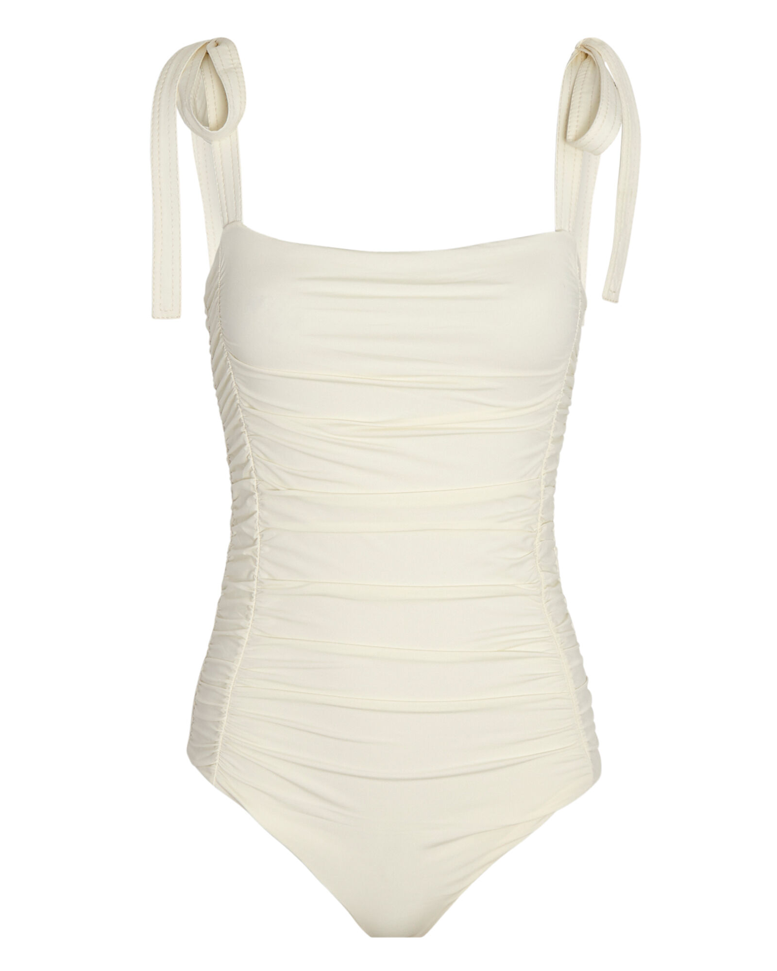 Good to Great Ruched One-Piece Swimsuit, IVORY, hi-res