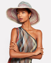 Wide Brim Straw Hat, MULTI, hi-res
