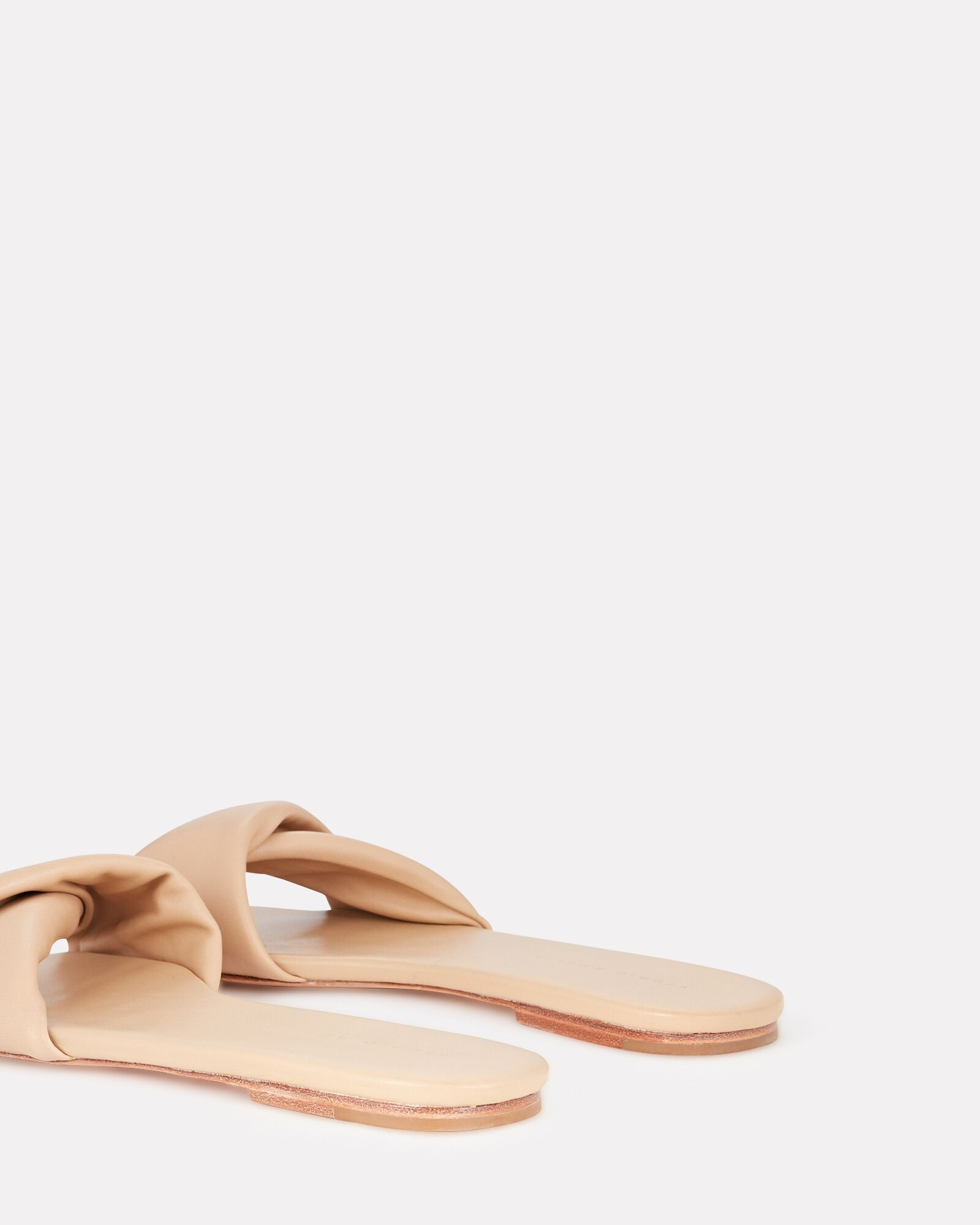 3.31 Twisted Leather Slide Sandals, BEIGE, hi-res
