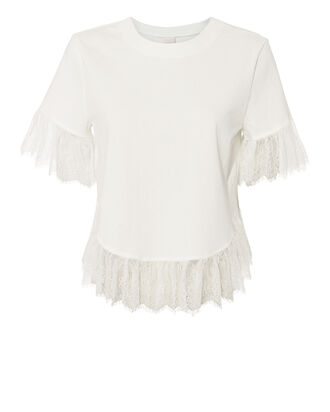 Voleta Lace Trim Top, WHITE, hi-res