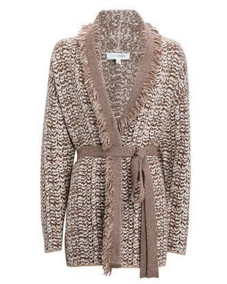Frankie Wool-Cashmere Wrap Cardigan, BROWN, hi-res