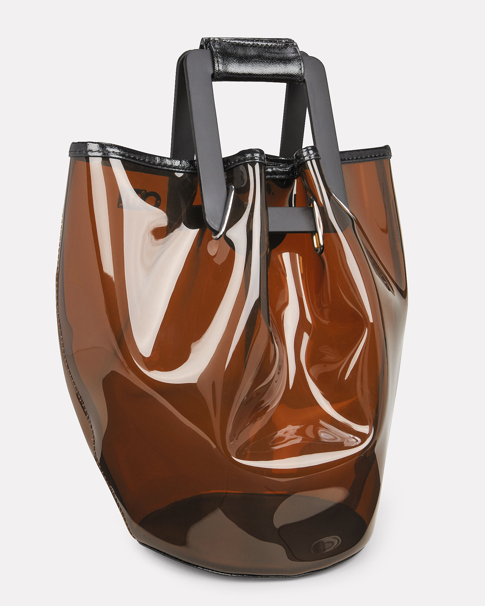 Cassie Colorbock PVC Tote, BROWN, hi-res