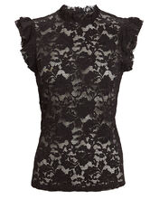 Kassia Sleeveless Lace Top, BLACK, hi-res