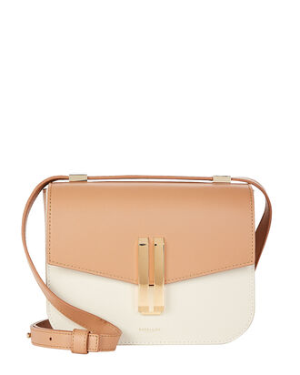 Nano Square Leather Bag, TOFFEE/WHITE, hi-res