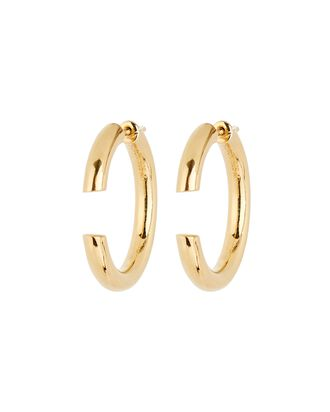 Disrupted 22 Hoop Earrings, GOLD, hi-res