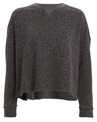 French Terry Leopard Sweatshirt, ASPHALT/LEOPARD, hi-res