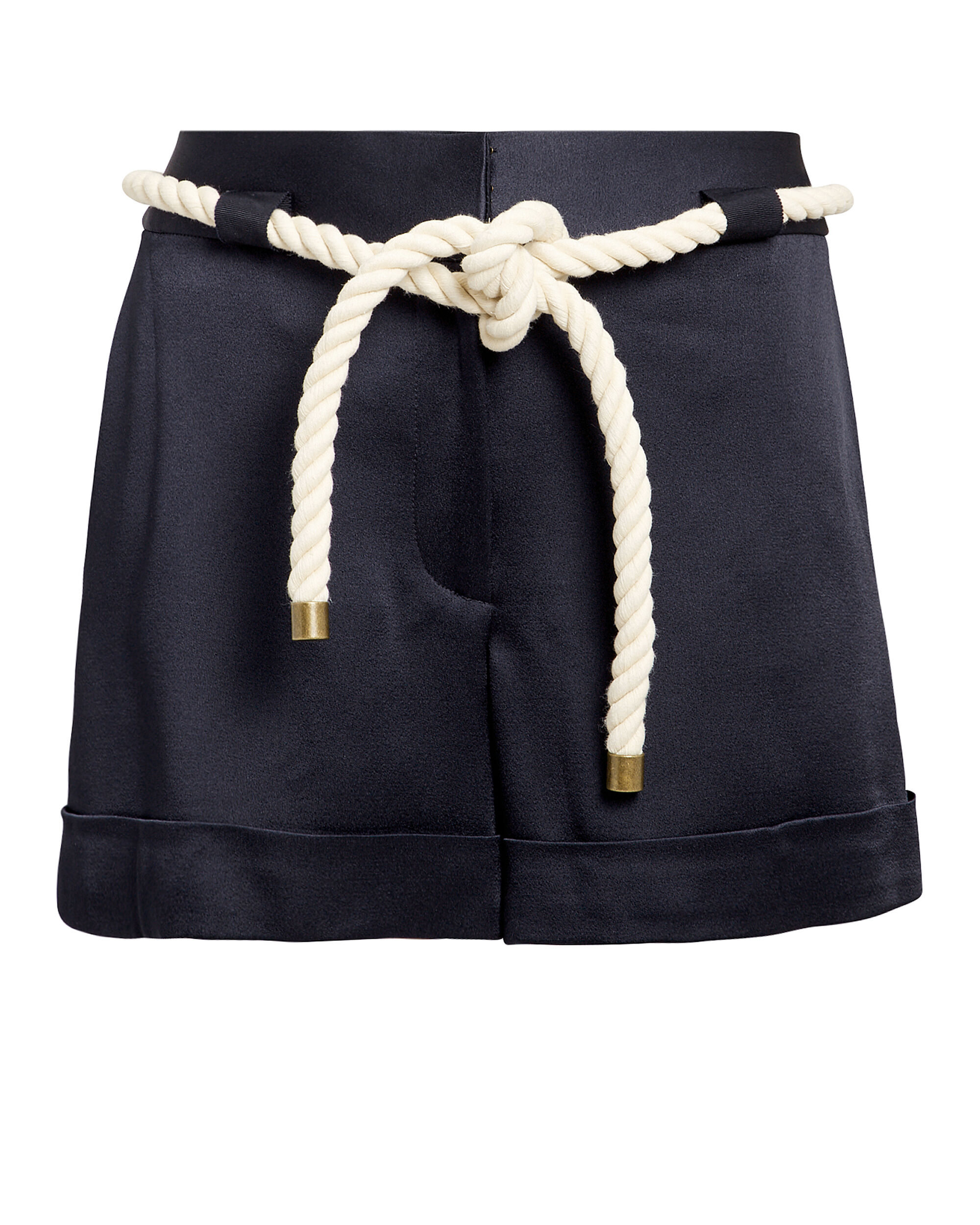 Rope Tie Navy Shorts, NAVY, hi-res