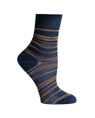Striped Lurex  Socks, STRIPE, hi-res