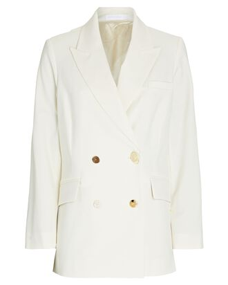 Lucinda Double-Breasted Tie-Back Blazer, IVORY, hi-res
