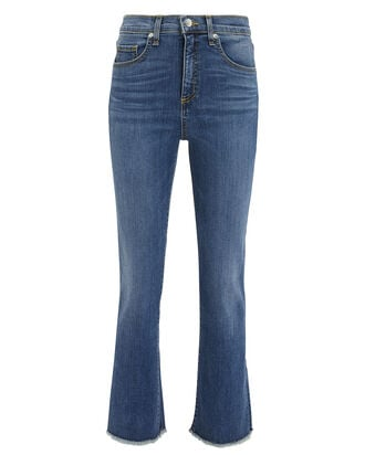 Carly Kick Flare Jeans, MEDIUM WASH DENIM, hi-res