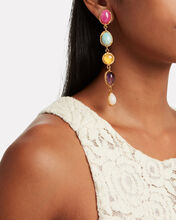 Cascade Stone Drop Earrings, GOLD, hi-res
