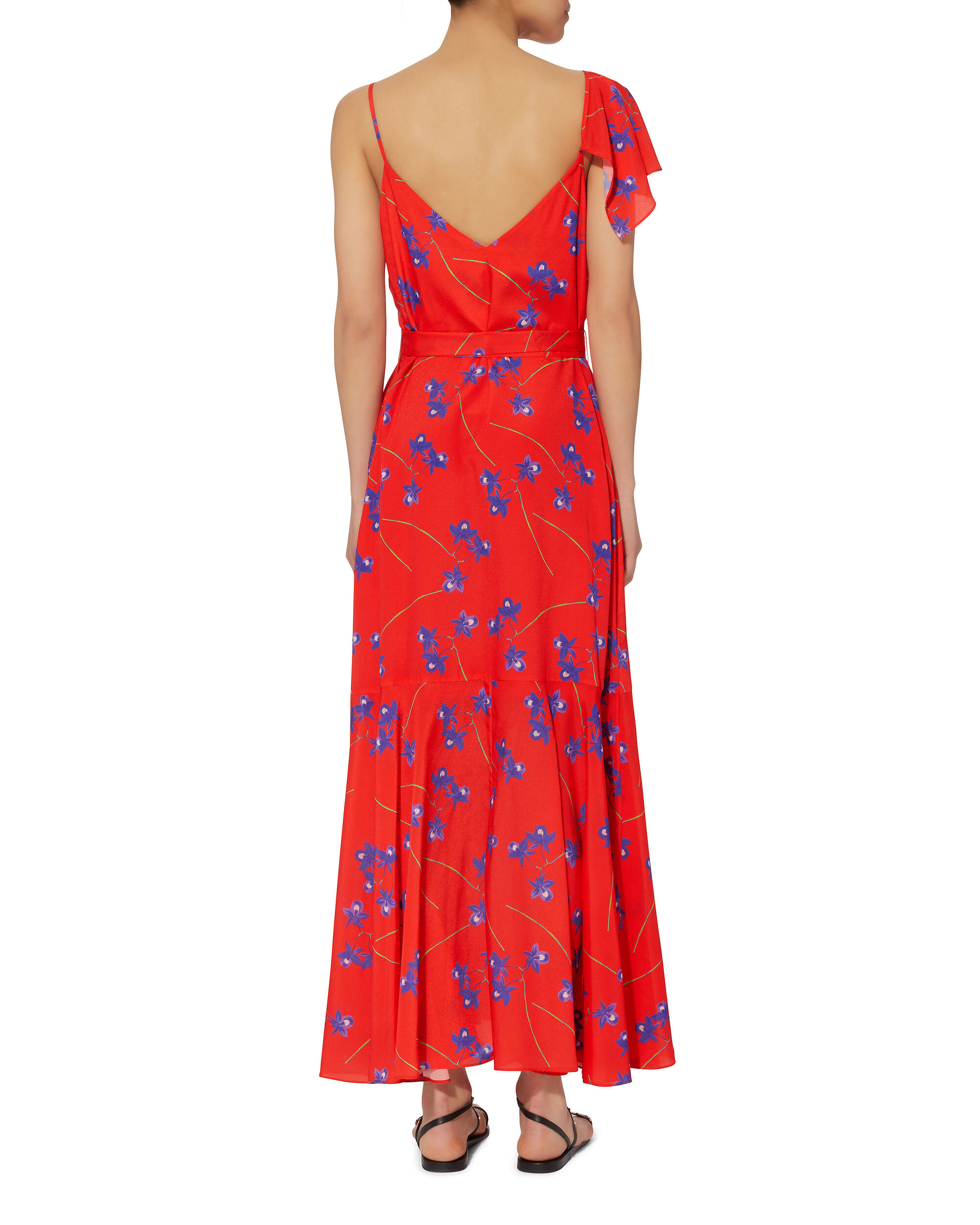 Isadora Ruffle Wrap Slip Dress, PRINT, hi-res