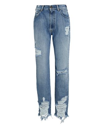 Maggie Distressed Straight-Leg Jeans, LAKEWOOD, hi-res