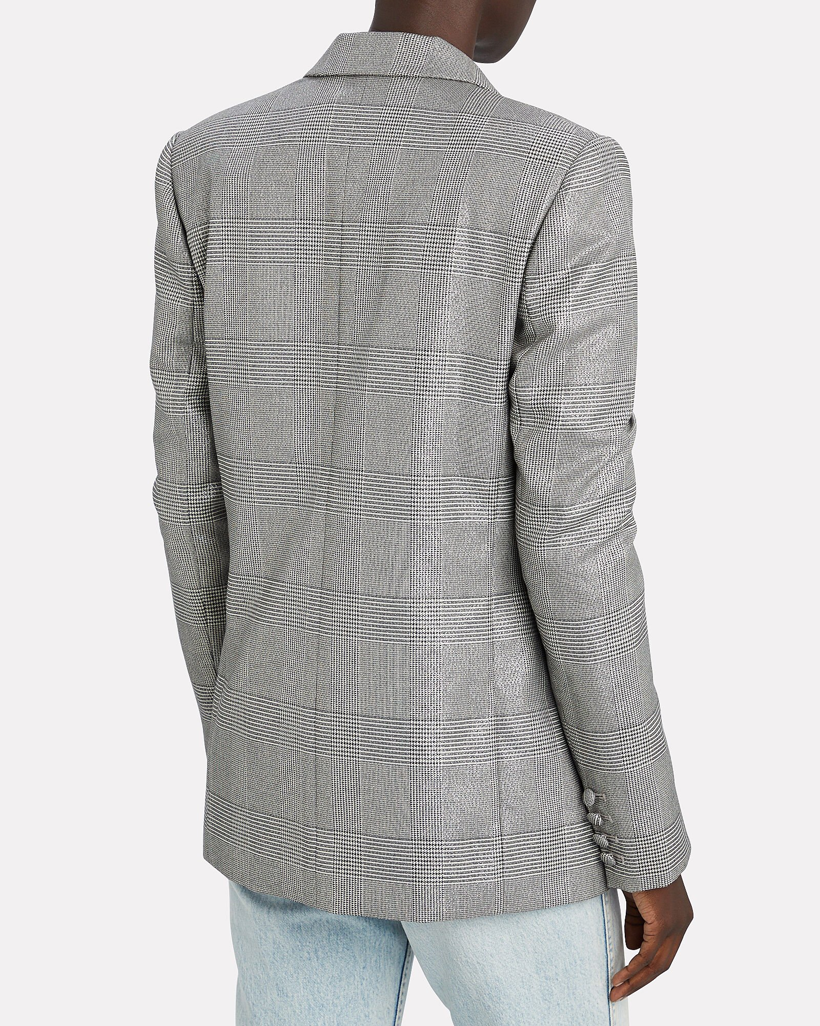Clark Double-Breasted Blazer, GREY-LT, hi-res