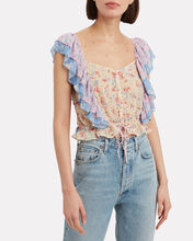 Avery Mixed Print Top, MULTI, hi-res
