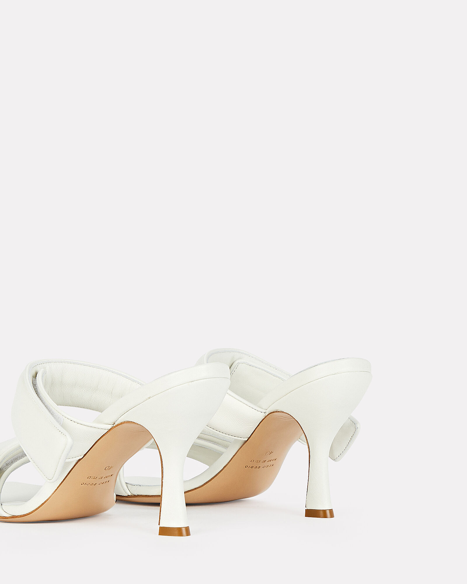 x Pernille Teisbaek Puffer Leather Sandals, WHITE, hi-res