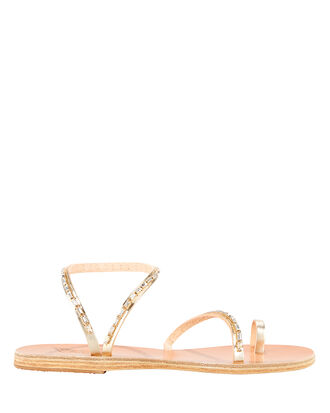 Apli Eleftheria Embellished Sandals, TAN/GOLD, hi-res