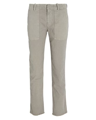 Jenna Straight-Leg Twill Pants, GREY, hi-res