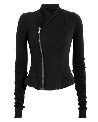 Asymmetrical Zip Jacket, BLACK, hi-res