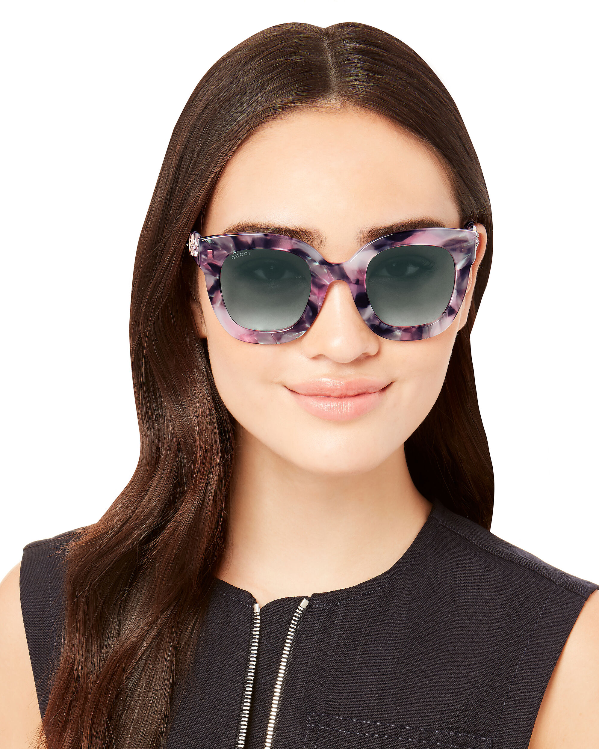 Oversized Marble Acetate Sunglasses, PURPLE-LT, hi-res