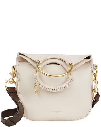 Circle Metal Crossbody Bag, BEIGE, hi-res