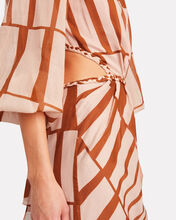 Illusion of Time Striped Dress, PALE PINK/OCHRE, hi-res
