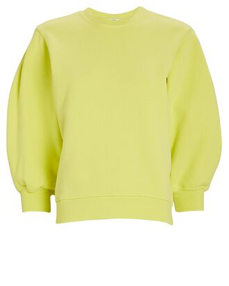 Thora Cotton Crewneck Sweatshirt, YELLOW, hi-res
