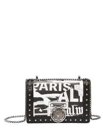 Newspaper Box Shoulder Bag, BLK/WHT, hi-res