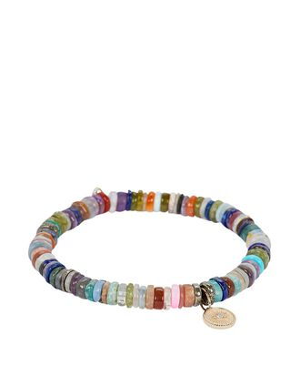 Small Marquis Eye Coin Bracelet, RAINBOW, hi-res