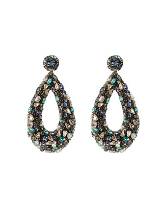 Deepa by Deepa Gurnani Karen Earrings, TEAL, hi-res