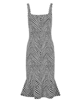 Shondra Jacquard Dress, BLACK/WHITE, hi-res