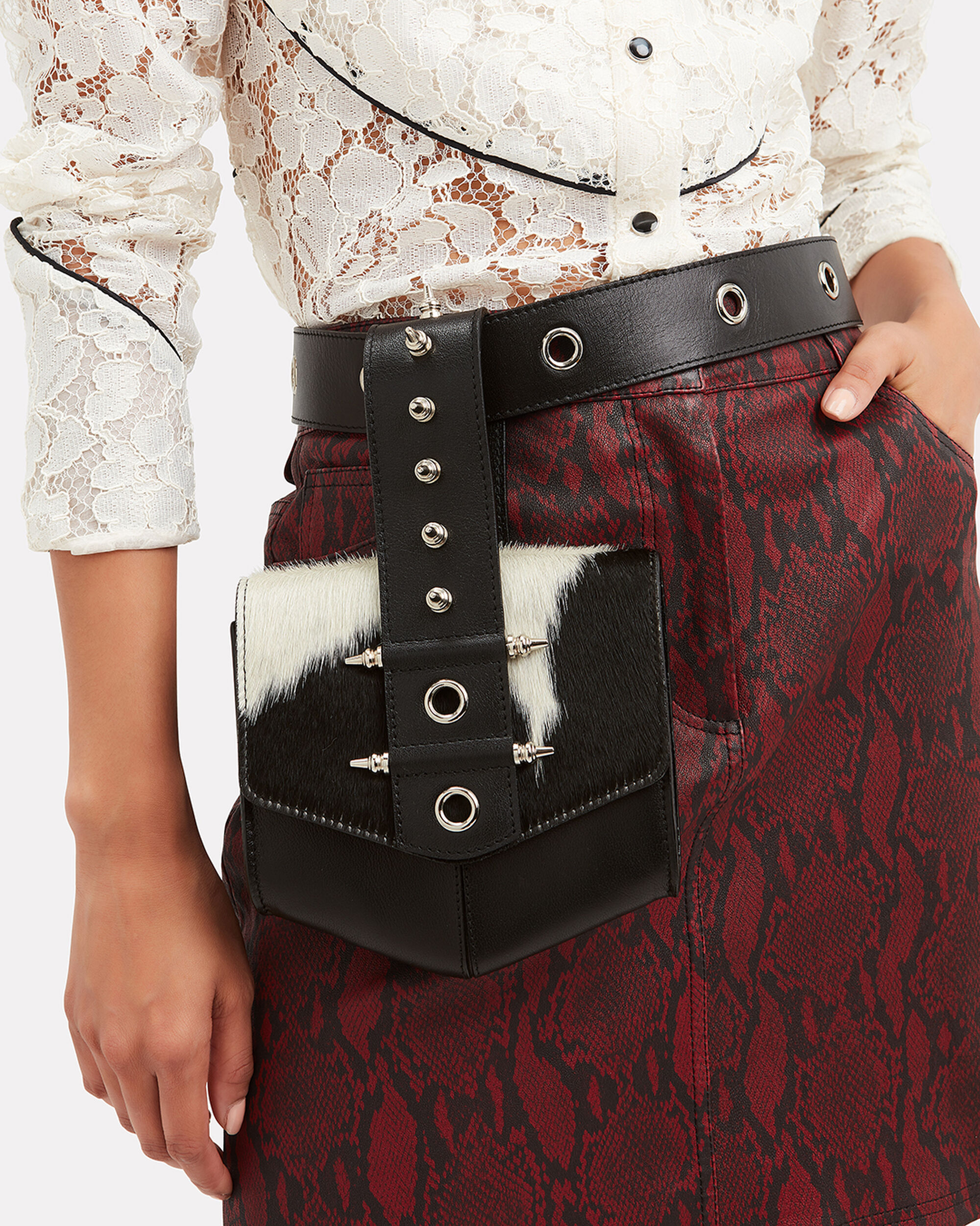 Haircalf Belt Bag, BLACK, hi-res
