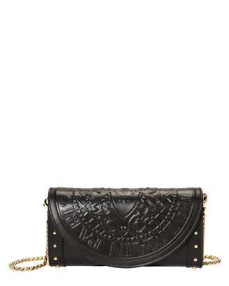 Black Clutch Chain Bag, BLACK, hi-res