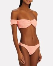 Brigette Off-The-Shoulder Bikini Set, CORAL, hi-res