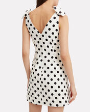 Corsage Tie Polka Dot Dress, MULTI, hi-res