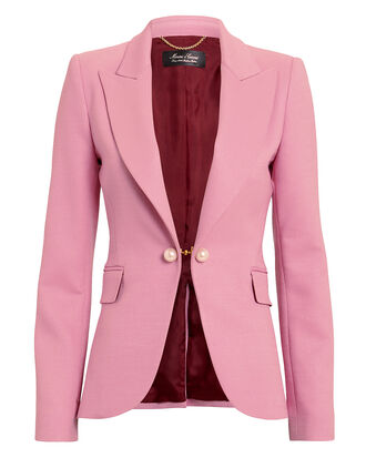 Double Face Pink Blazer, PINK/BURGUNDY, hi-res