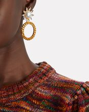 Ellie Circle Drop Earrings, GOLD, hi-res