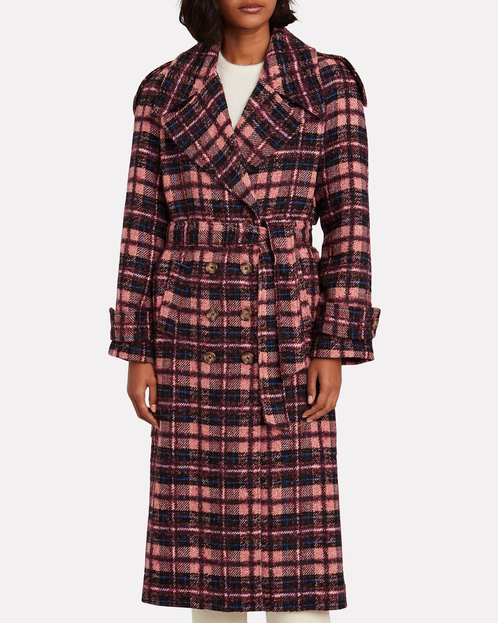 Norianna Wool-Blend Trench Coat, MULTI, hi-res