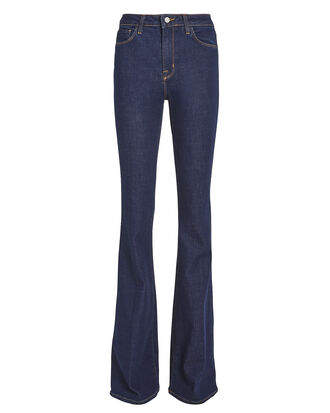 Bell Flare Jeans, DARK WASH DENIM, hi-res