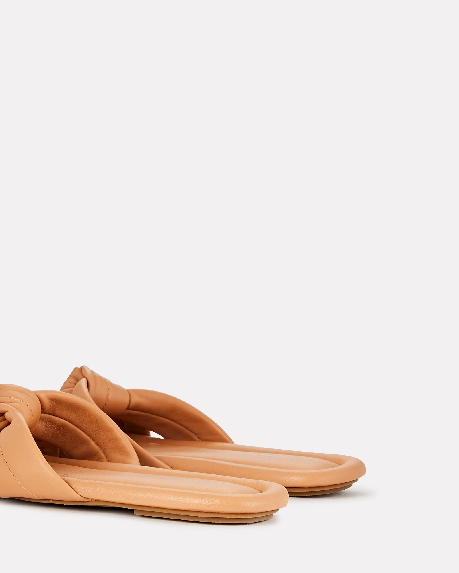 Polly Knotted Leather Sandals, BEIGE, hi-res
