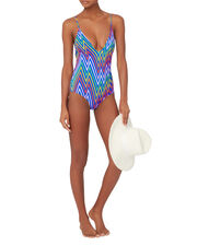 Antonia Electric Rainbow One Piece Swimsuit, PATTERN, hi-res
